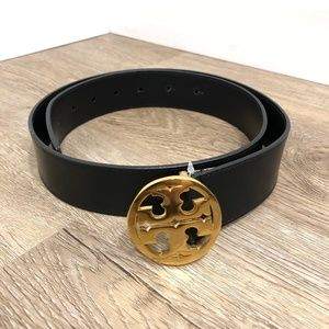 Tory Burch 1 1/2 Classic LOGO Belt